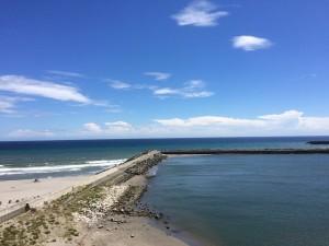 南側/遠州灘ですね