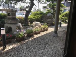 和風カフェだけにお庭も和風です!
