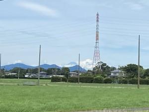 磐田市内からの富士山