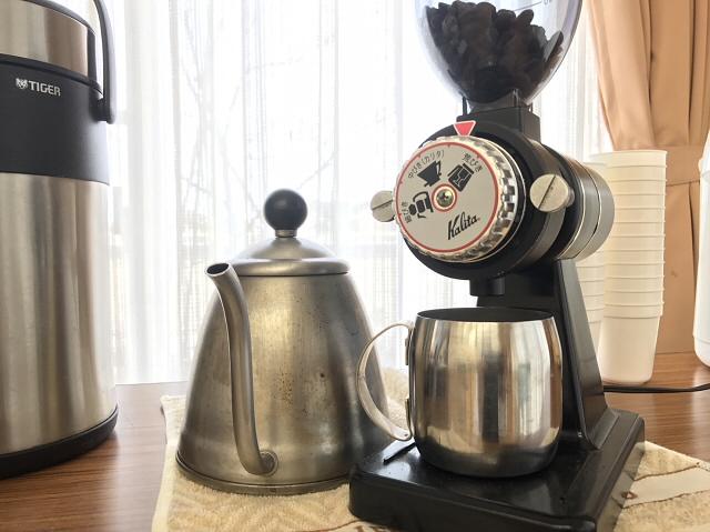 今回も好評だった豆から用意したコーヒー